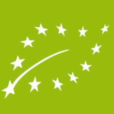 foglia verde logo certificato biologico europeo